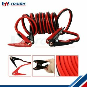Heavy Duty 2 Gauge 20 Ft Battery Booster Cable Emergency Power Jumper 600 Amp