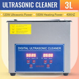 3l Ultrasonic Cleaner Cleaning Equipment Liter Industry Heated W Timer Heater
