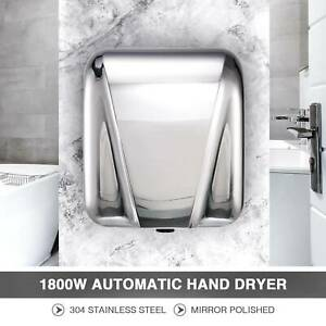 Compact Automatic Hand Dryer Machine Electric Touchless Air Stainless Steel New