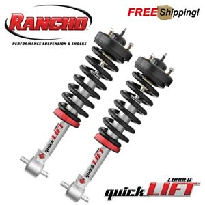 Rancho Set Of 2 Loaded Quicklift Front Leveling Kit For 07 13 Toyota Tundra