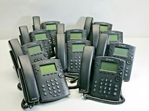 Office Phone System Polycom Vvx 300 6 Line Voip Display Lot Of 10 Ab641