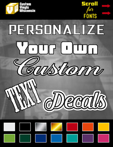 Custom Text Vinyl Decal Lettering Personalized Window Sticker Car Truck Business