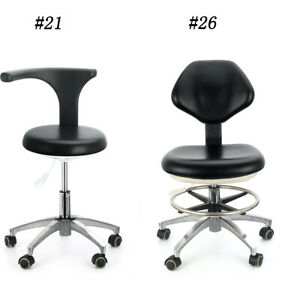 Dental 360 Rotation Doctor s Assistant Mobile Chair Stool Adjustable Height Ups