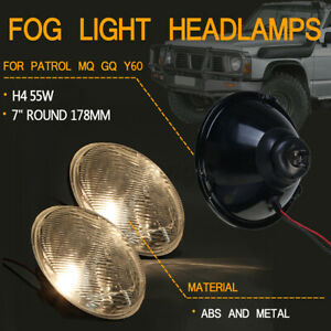 2x Universal 7inch Round Car Front Fog Light Lamp Headlamp Headlamp Assembly New