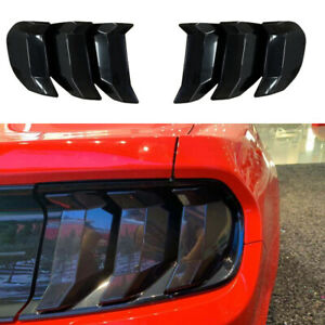 Car Tail Light Guard Trim Cover Bezels Lamp Smoked Black For Ford Mustang 2018
