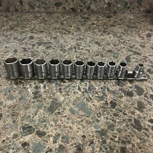 11 Piece Snap On Tools Usa 3 8 Drive 6 Point Metric Socket Set 8 19mm No 9mm