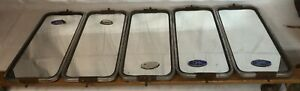 Lot Of 5 Vintage Grote Side Towing Mirror Copper Plated Back Pickup Semi Truck