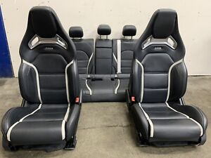 2016 Mercedes W205 C63 s Amg Sport Performance Seats Setup Front Rear Leather