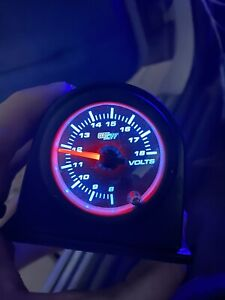 Glowshift Tinted Volt Voltage Gauge W 7 Color Led Display