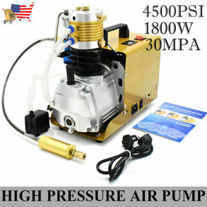 110v 30mpa High Pressure Air Compressor 4500psi Pcp Airgun Scuba Air Pump Usa