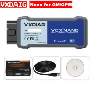 Vxdiag Vcx Nano For Gm opel With V2020 7 Gds2 And Tech2win Diagnostic Tool