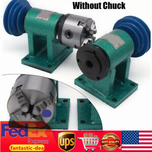Diy Lathe Spindle Lathe 4 Jaw Chuck Metalworking Lathes Equipment 80mm Flange