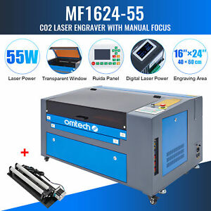 Omtech Upgraded Co2 Laser Engraver Cutter With Rotary Axis Ruida 60w 24 x16