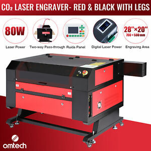 Omtech 28 x20 80w Co2 Laser Engraving Cutting Carving Engraver Cutter Ruida