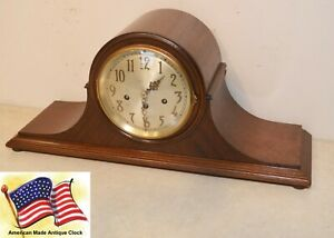 Restored Seth Thomas Chime No 75 1921 Antique Cabinet Clock In Mahogany