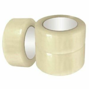 72 Rolls Clear Carton Sealing Packing Shipping Tape 2 2 0 Mil 110 Yards 330