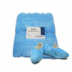 100 Pack Premium Disposable Non Slip Boot Shoe Covers Extra Thick