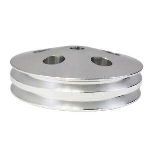 Saginaw Power Steering Pump Double Groove Aluminum Pulley For Gm Chrome