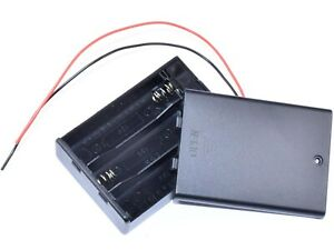 Battery Box Holder 3 X Aa With Lid And Power Switch