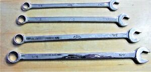 Mac Tools 4pc Extra Long Combination Wrench Set Sae 3 8 To 9 16 Usa