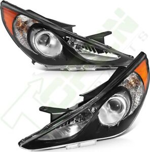 For Hyundai Sonata 2011 2014 Headlights Assembly Headlamps Black Replacement