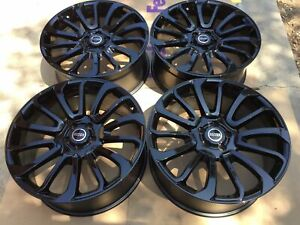 21 Wheels Fit Range Rover Autobiography Style Gloss Black Wheels Tires Hse New