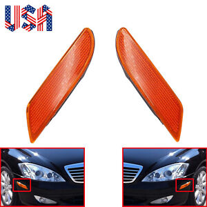 Pair Of Side Marker Light Turn Signal Lamp Fit For Mercedes Benz W221 S550 S600