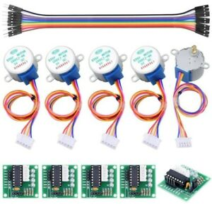 5v 4 phase Geared Stepper Motor With Uln2003 Driver board 28byj 48 For Arduino