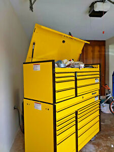 Snap On Tool Box Top Bottom Set 21 Drawers 541 4 X 24 X 61 Ultra Yellow