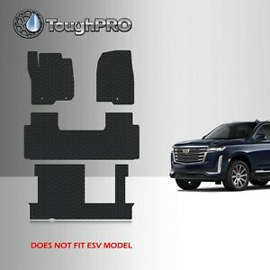 Toughpro Floor Mats 3rd Row Black For Cadillac Escalade 2nd Row Bench 2021