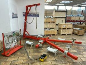 Auto Body Frame Puller Straightener With Roof Attachment Tools Free Air Go Jack