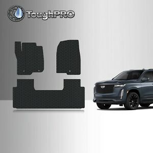 Toughpro Floor Mats Black For Cadillac Escalade Esv All Weather 2021