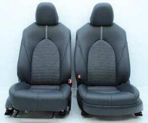 2017 2018 2019 2020 Toyota Camry Se Oem Front Black Leatherette Cloth Seats