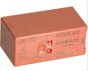 Te Schrack Rt33la12 Relay 12vdc Bistable Single Coil Spst 16a 250vac 2 Pieces