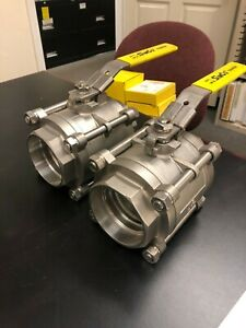 Simco Stainless Steel High Performance Ball Valve 3 New