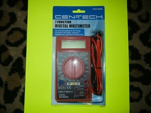 New cen tech 7 Function Digital Multi tester Multimeter 69096 dc ac Voltage