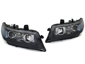 Jdm Edm Projector Headlights For 2004 2008 Acura Tsx Cl7 Black W Blue Reflector