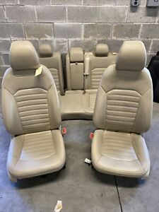 13 16 Ford Fusion Seats Tan Leather Full Set Power Oem
