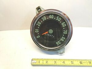 1940s 50s Willys Jeep Vintage Speedometer 565dmg2 Military Low Miles