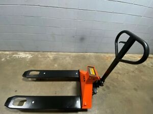 5 Star Pallet Jack With Built In Scale 4 400lbs Capacity 49 lx27 w Fork Manual