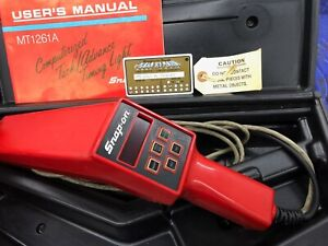 Snapon Mt1261a Timing Light Tach Tested Works Good Manual Case