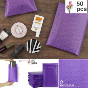 Small Bubble Mailing Bags Seal Mailer Padded Cosmetic Purple Shipping Envelopes