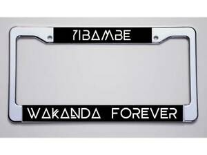 Black Panther Fans yibambe wakanda Forever License Plate Frame