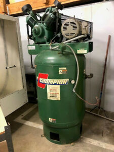 Champion R30d 15 Hp 2 stage Reciprocating Vertical Tank Air Compressor