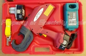 Burndy Pat750 18v Hydraulic Battery Rubber Covered Head Crimper Crimping Tool