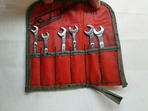 Vintage Snap On Tools Ignition Open Wrench Set C 65d W Red Vinyl Pouch
