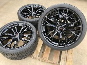 New Gm C7 Z06 Corvette 19 20 Black Wheel Michelin As3 Zp Tire For Grand Sport