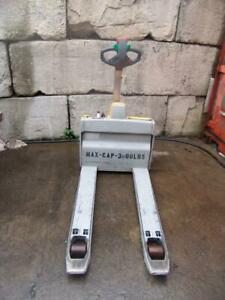 Multiton 3000 Lbs Electric Pallet Jack Works Fine Bg1