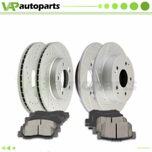 Ceramic Brake Pads And Rotors Front Rear For Acura Integra 1997 2001 Drilled