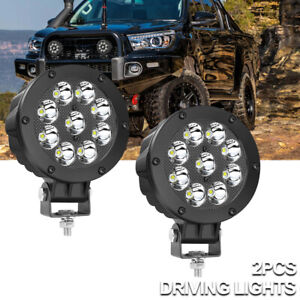 2pcs 5 90w Cree Round Led Driving Spot Pods Work Lights Bar Bumper Off Road Atv